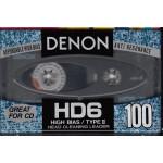 ΚΑΣΣΕΤΑ DENON - HD 6 - affordable high bias anti resonance - high bias/type II - head cleaning leader - 100ρα