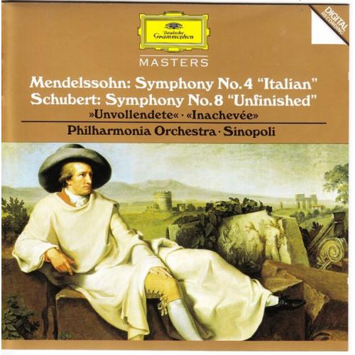 Mendelsson - Sympony No 4 Italian - Schubert - Symohony No 8 Unfinished ( Deutsche Grammophone )