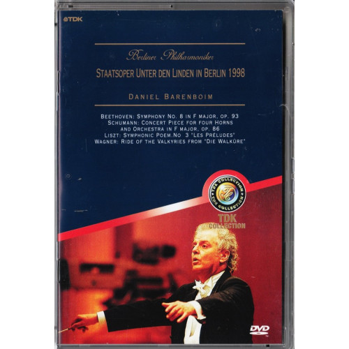 DVD - Staatsoper den linden in Berlin 1998 - Daniel Barenboim - Beethoven - Schuman - Liszt - Wagner